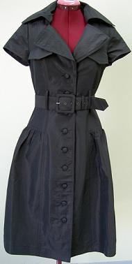 Black Rain Shirt Dress S8