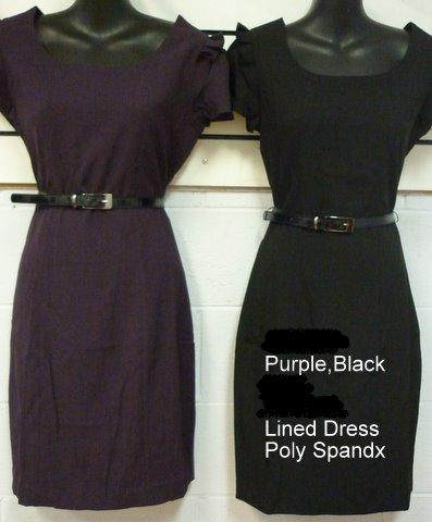 Black Corporate Pleated Botton Dress S12,14,16