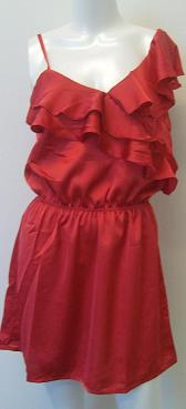 Red or Blk Satin 1 Shoulder Dress S6-12