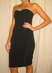 Bebe -Fling Strapless Elegant Black Dress S8-14