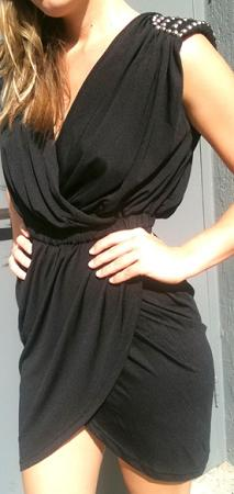 Little Black Dress with Studded Shoulders S,M,L