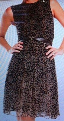 Light Flowy Animal Print Dress S16