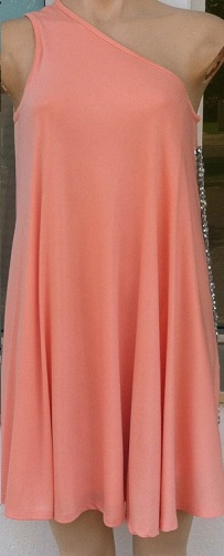One Shoulder Bling Peach S10,12/14