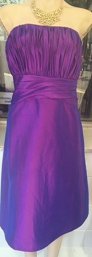 Taffeta Strapless Dress knee length S18