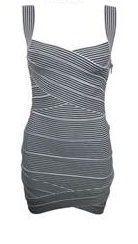 Striped Bandage Dress S10,12