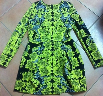 The amazing Lime Black Dress S14