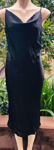 Black Satin Cowl Neck S8,10,12,14,16