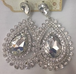 Bling Big Earrings $20
