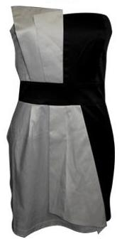 Blk & White Tube Dress S8