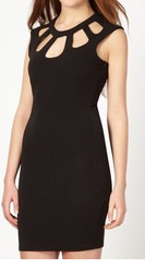 Black Cut out Body Con S112
