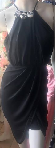 Black Drape Dress S8