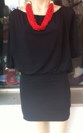Black Jersey with Sleeves Dress S8,10,12