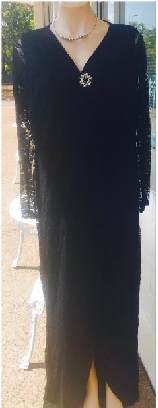 Sleeved Black Lace Maxi S16