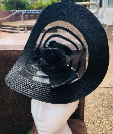 Black with Mesh Fascinator on Headband $79