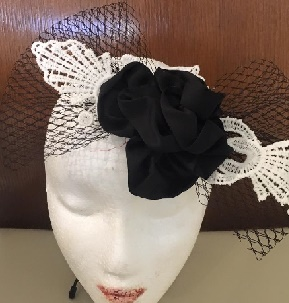 Black Net Bow $50