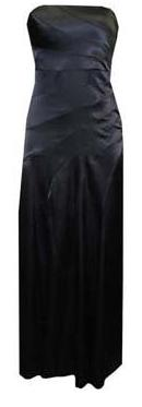 Black Satin Evening Maxi S6,8