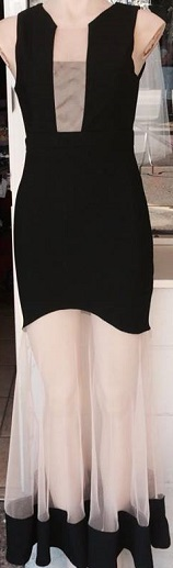 Black See through skirt Maxi S8,10,12