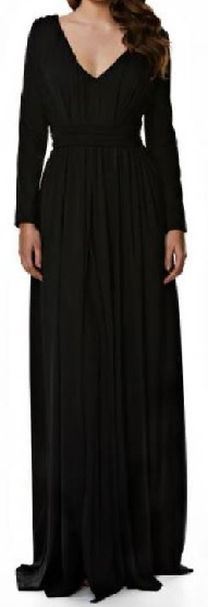 Black Long Sleeved Gown S12,16
