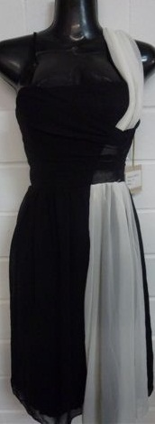 Black White Side Dress S10,12