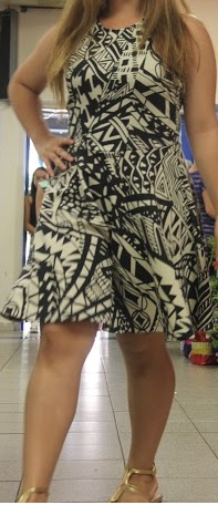Black White Print Skater Dress S8,14