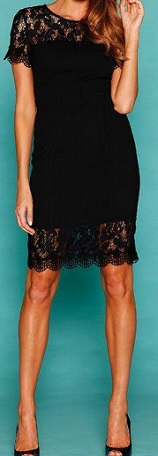 Lace Dress Black  Similar to photo S8,10,12,14,16,18,20,22
