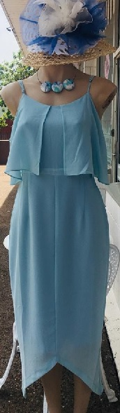 Baby Blue Cold Shoulder Midi S12