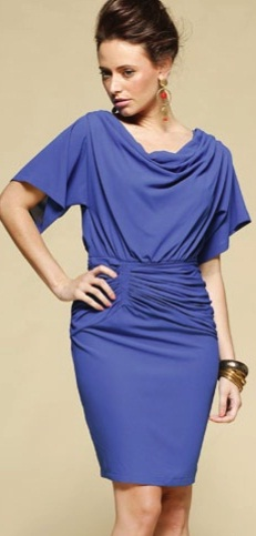 Blue Cowl Neck Dress S14