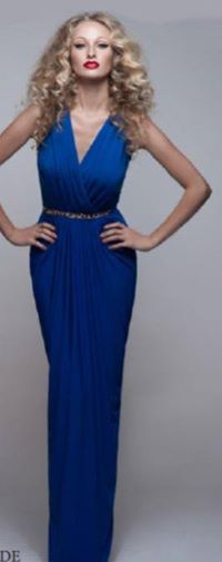 Blue Draped Gown S10,12/14