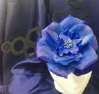 Blue Flower with Black $79