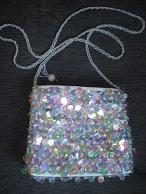 Pale Blue Sequined Bag SALE $15