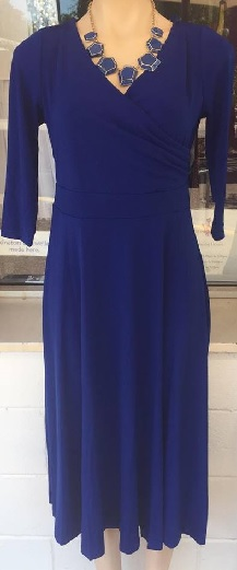 Sleeved Jersey Dress Blue S12,14,18/18 Burgandy S8,10,12