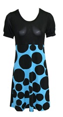 Blue Black Spot Dress S8,10