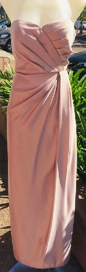 Blush Satin Straoless Gown S10/12