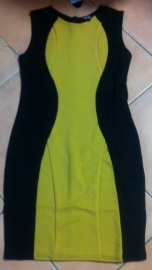BodyCon Mustard Black Dress S8,10,12,14