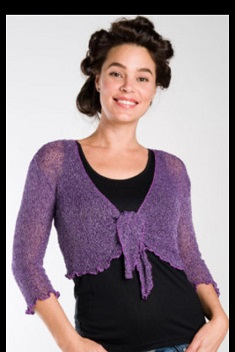 Knitted Cartigan One Size Purple