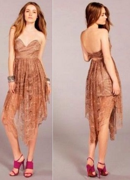 Brown Lace Dress S6 Black S8
