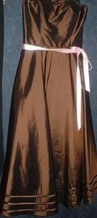 Gorgeous Choc Tulle Ball Dress S10
