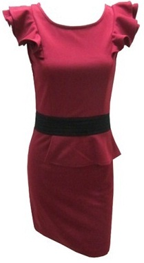 Burgandy Work Dress S8,12