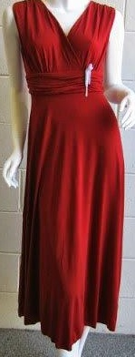 Burgandy Dinner Jersey Dress S8,10,12,14