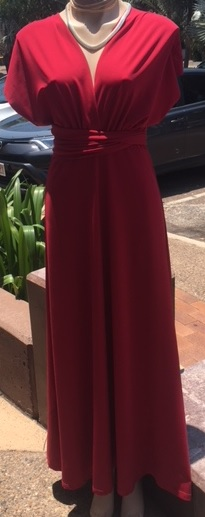 Multi Way Burgandy Dress S8/12