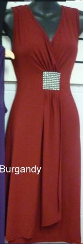 Burgandy With Bling Waist Dress S10,12,14