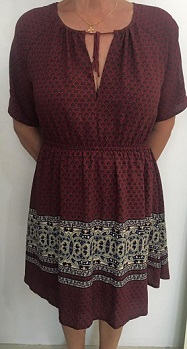 Burgandy amy Dress S8,10,12,14