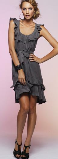Combat Frill Dress Black S12
