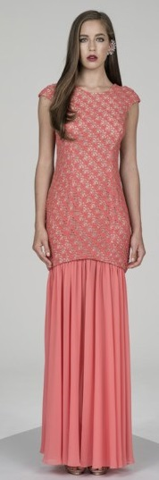 Coral Gown with detachable Skirt S12/14