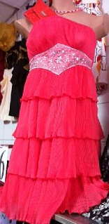 Coral Strapless Layer Dress S8,10,12