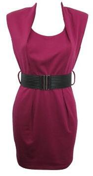 Corporate Berry Dress with Belt S8,10,14