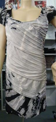 Grey Short Sleeve Dinner Dress S10/12