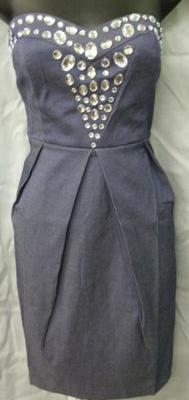 Denim Feel Bling Dress S8,12