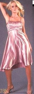 Bariano Satin Dress Pale Pink S10, Blk S10