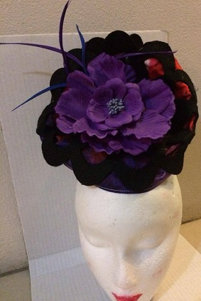 Blk Purple Flower sold